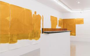 Installation view of Dale Harding's art.