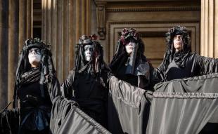 BP Must Fall, Extinction Rebellion protest outside British Museum, London February 2020. Image shutterstock.