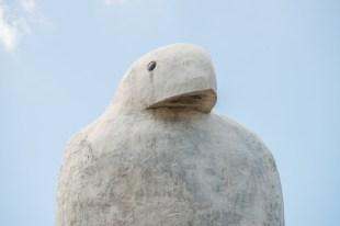 Top of Bunjil (eagle) sculpture.