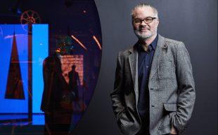 Digital engagement expert, Seb Chan standing in ACMI