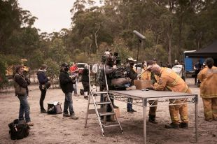behind the scenes on 'Fires'.